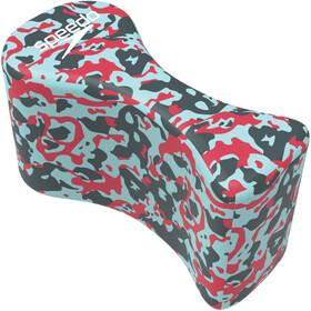 speedo Elite Pullbuoy lava red/chill blue/grey